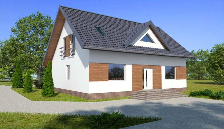Dom drewniany ANDRZEJ (PD-507) slajd