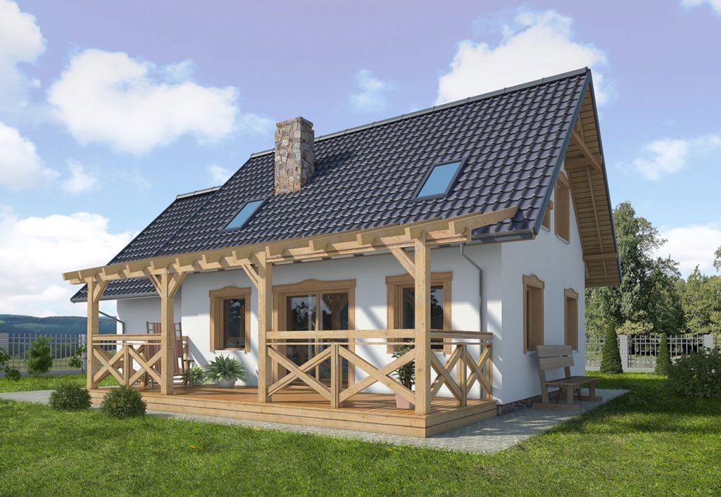 Dom drewniany FRANEK (582)