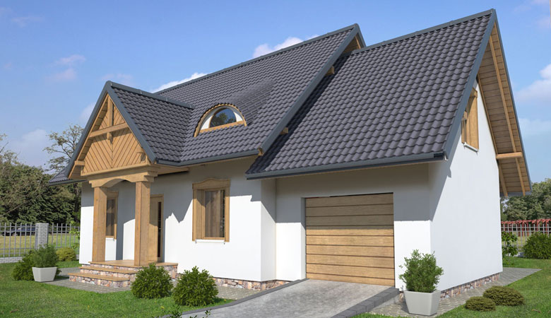 Dom drewniany FRANEK (PD-582) slajd